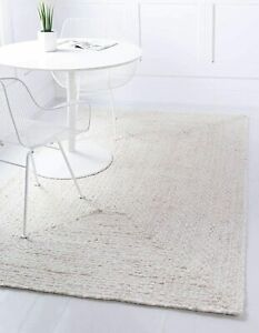 Rug 100% Natural Cotton Braided Style Runner Rug Handmade Carpet Living Area Rug