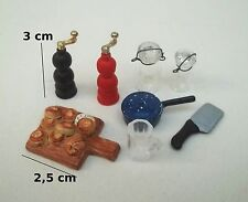 lot pour cuisine, miniature,maison de poupée,vitrine,épicerie,pâtisserie S10-C