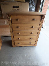 MASTER RANGE 5 DRAWER CHEST SOLID PINE HAND MADE BESPOKE SIZES COLOURS