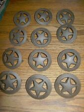 SET OF 12 Large Star  Drawer Pull   Cast Iron Cabinets, Drawers  Western Decor