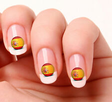 20 Nail Art Decals Transfers Stickers #685 - World Cup Spain flag icon