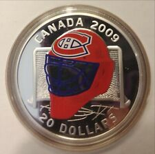 2009 Limited Edition $20 Sterling Silver Coloured Coin Montreal Canadiens Goalie