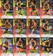 2018 afl select FOOTY STARS ADELAIDE CROWS FULL SET OF COMMONS 12 CARDS