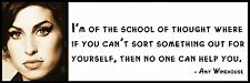 Wall Quote - Amy Winehouse -   I'm of the school of thought where if you can't s