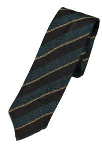 NWT - Drake's – Teal Grenadine Silk Tie w/Brown & Yellow Regimental Stripe