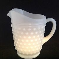 Vintage Anchor Hocking Hobnail Milk Glass 18 oz Pitcher