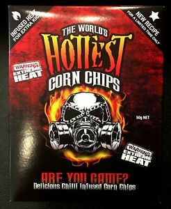 The World's Hottest Corn Chips 50g Box - Extreme Heat