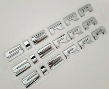 Chrome SIERRA Letters OEM L//R Door Rear Tailgate Emblem for GMC Sierra 1500 2500