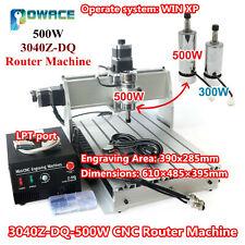3040z Dq 500w 3 Axis Desktop Cnc Router Engraving Machine Ballscrew Kit 220110v
