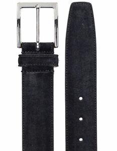 SOBS Herrenmode Suede Leather Belt IN Black Reg