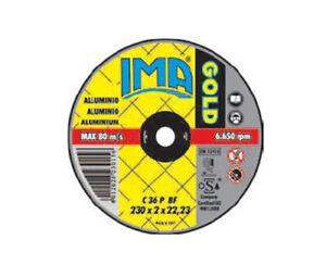 50x Dischi extra sottili disco a centro piano Gold taglio alluminio IMA ABRASIVI