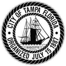 "City of Tampa Florida Seal Car Bumper Window Vinyl Sticker Decal 4.5""X4.5"""