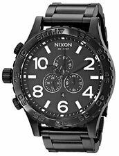 Nixon 51-30 Black Dial Stainless Steel Band Quartz Mens Watch A083001