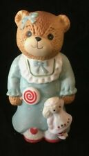Lucy & Me Little Girl Bear With Lollipop & Baby Doll Lucy Rigg Enesco 1984 Rare