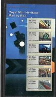 2017 Post and Go ROYAL MAIL HERITAGE: Mail By Rail Collectors Pack 1st Class x 6