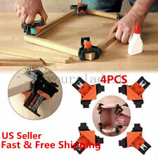 4Pcs/Kit 90 Degree Right Angle Clip Clamps Corner Holders Woodworking Hand Tools