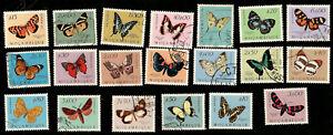 Butterflies 1953 Mozambique Portugal 20 Varieties Complete Set.
