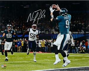 Nick Foles Eagles Super Bowl LII Champs Signed 16x20 Catching Touchdown Photo