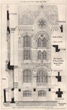 New library, Dr. Williams Trust, Grafton Street, London; Gratfield Clarke 1873