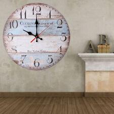 Orologio in legno da parete stazione grande 30 cm di diametro