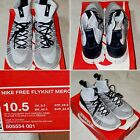 Nike Mens Free Flyknit Mercurial Sneakers Gray 805554-001 US Size: 10.5
