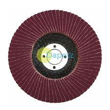 "10 x Rabat ponçage disque 115mm 40 80 grit d'oxyde d'aluminium 4.5 ""Meuleuse d'angle mix"