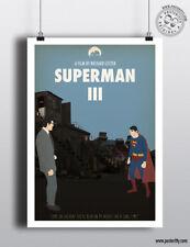 Póster de la película de Superman III-Minimalista mínimo película posteritty tres mal Clark