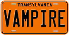 Transylvania Vampire Novelty Car License Plate