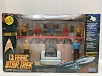Playmates 7 FIGURES CLASSIC STAR TREK & ENTERPRISE BRIDGE SCENE 1993 Limited Ed