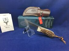 Muela Stag Gazapo Fixed Blade Knife With Leather Sheath - Mint In Box - 8A