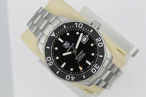 Tag Heuer Black Aquaracer Watch Mens WAN2110.BA0822 Automatic Silver Calibre 5