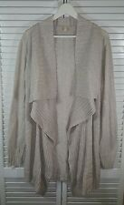 EILEEN FISHER Woman Cotton Angular Open Front Long Cardigan ~ Size L