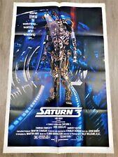 "Saturn 3 Affiche US ORIGINALE 68x104cm 27""41"" 1980 Kirk Douglas Fawcett Keitel"