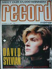 RECORD MIRROR 10/11/84 - DAVID SYLVIAN - GARY NUMAN - WHAM!