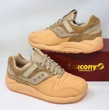 Saucony Men's Grid 9000 Ht Lace-Up Sneaker Tan Orange Pick A Size NEW