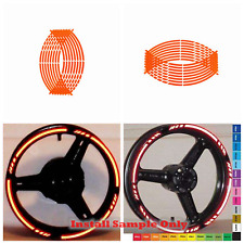 "Orange Motorcycle Reflect Rim Stripe Tape sticker 17"" wheel Honda Suzuki Yamaha"
