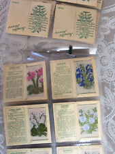 Wix's/Kensitas Silks cigarette cards Small Set 40 Rare 2nd Series Woven Flowers
