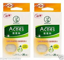 MENTHOLATUM ACNES ACNE DRESSING PIMPLE STICKERS x2 PACK