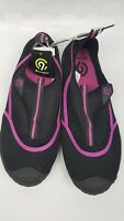 Womens Lucille Water Shoes C9 Champion Black/Pink Size L 9/10 Rubber Sole
