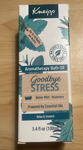 Kneipp Goodbye Stress  Mint & Rosemary Herbal Bath Oil 100 ml New In Box