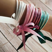 Bowknot All Weather Stack Silicone Plastic Glitter Jelly Bracelets Bangles Set