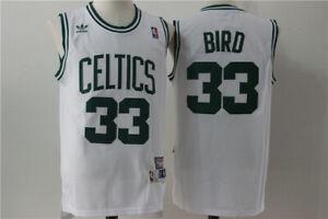 New Boston Celtics #33 Larry Bird Retro Swingman Basketball Jersey White