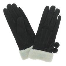 Gants en cuir fourrés chaud couleur noir taille M