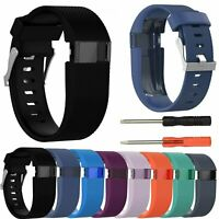 Replacement Silicone Wrist Band Bracelet Strap Tool For Fitbit Charge HR Tracker