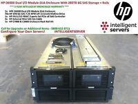 HP D6000 6G SAS Enclosure | 280TB SAS Storage | Rack Rails | 693689-B21 QQ695A