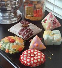 Quilt Pattern PIECED PINCUSHIONS in 6 Styles Indigo Junction Fun Quick # IJ748