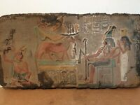 Rare Antique Ancient Egyptian Stela King Khufu God Ram Snack Water Protect2566BC