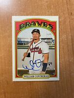 2021 Topps Heritage - William Contreras - Real One On Card Rookie Auto BRAVES RC