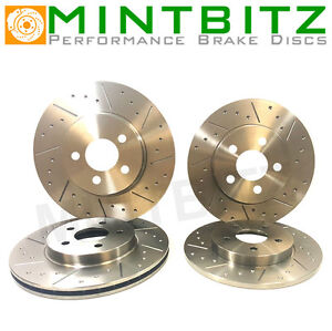 Dimpled And Grooved BRAKE DISCS Front And Rear MG ZS 180 2.5 V6 24v 282