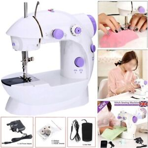 Portable Electric Sewing Stiches Machine Mini LED 2 Speed Overlock Foot Pedal UK
